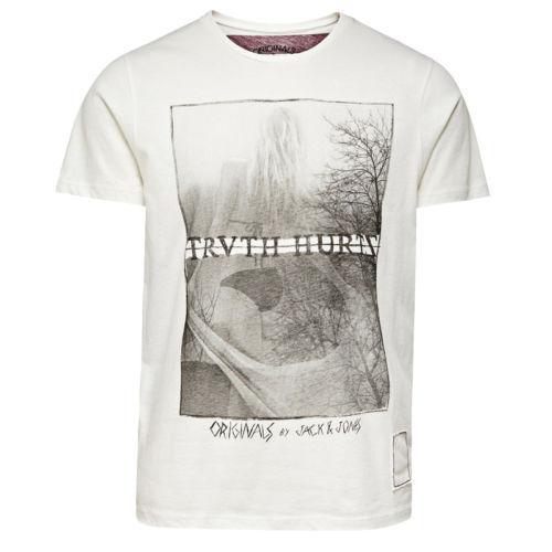 Pánské triko Jack Jones Bílé, Velikost: M