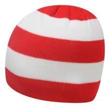 Pánská zimní čepice Team Supporter RED/WHITE, Velikost: M
