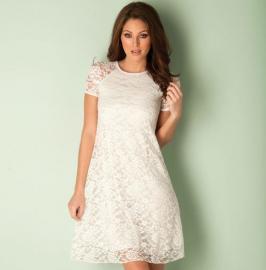Dámské šaty Club L Bílé