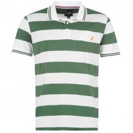 Pánské polo triko Kangol- Bílé/Zelené