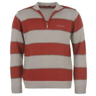 Pánský svetr Pierre Cardin - rudá/šedá
