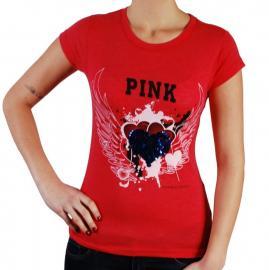 Dámské triko Pink by Victoria Secret červená