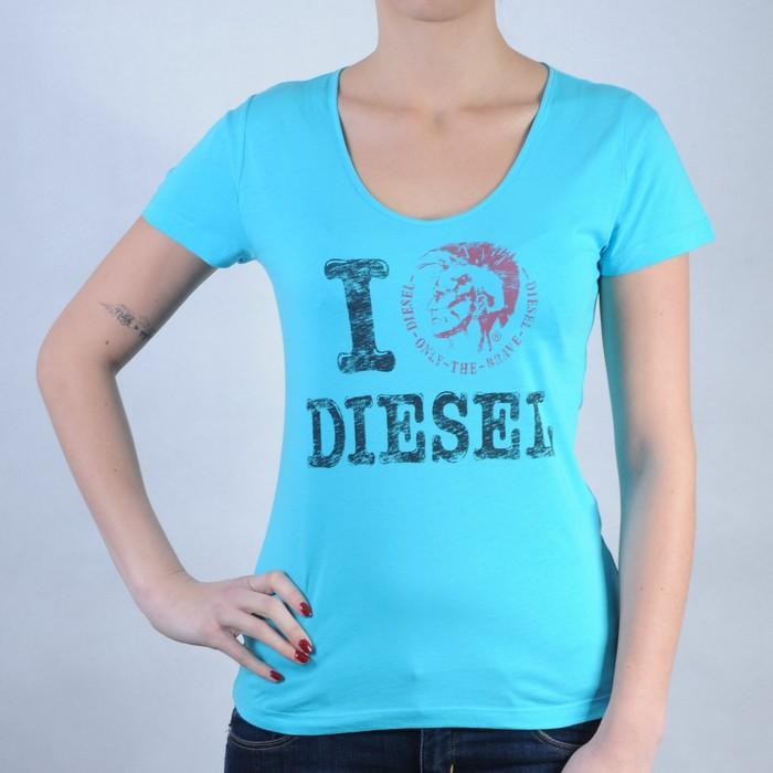Dámské triko Diesel modrá, Velikost: 10 (S)