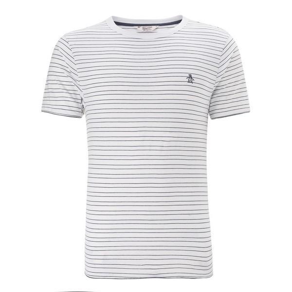 Pánské triko Original Penguin- Bílé/Modré