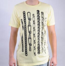 Pánské triko Public Domain žlutá