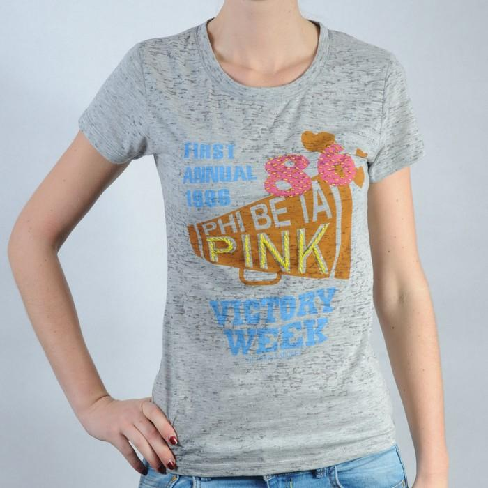 Dámské triko Pink by Victoria Secret šedá