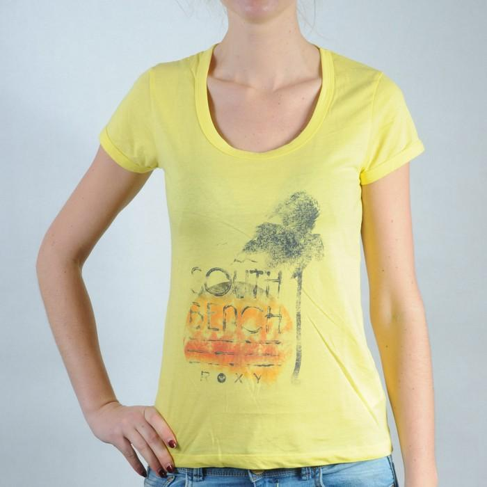 Dámské tričko Roxy žlutá, Velikost: 12 (M)