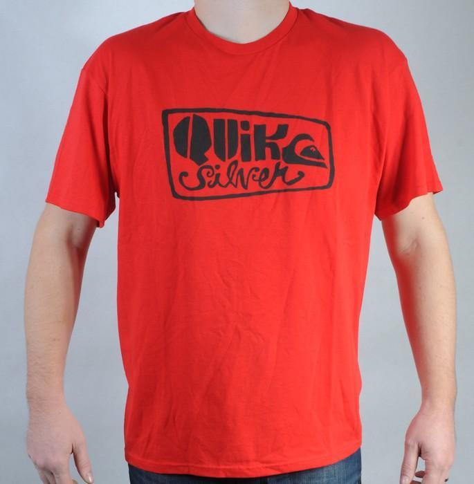 Pánské triko Quiksilver červená