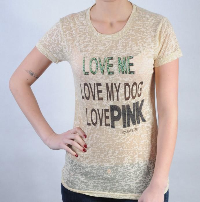 Dámské triko Pink by Victoria Secret béžová