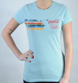 Dámské triko Coca Cola světle modrá