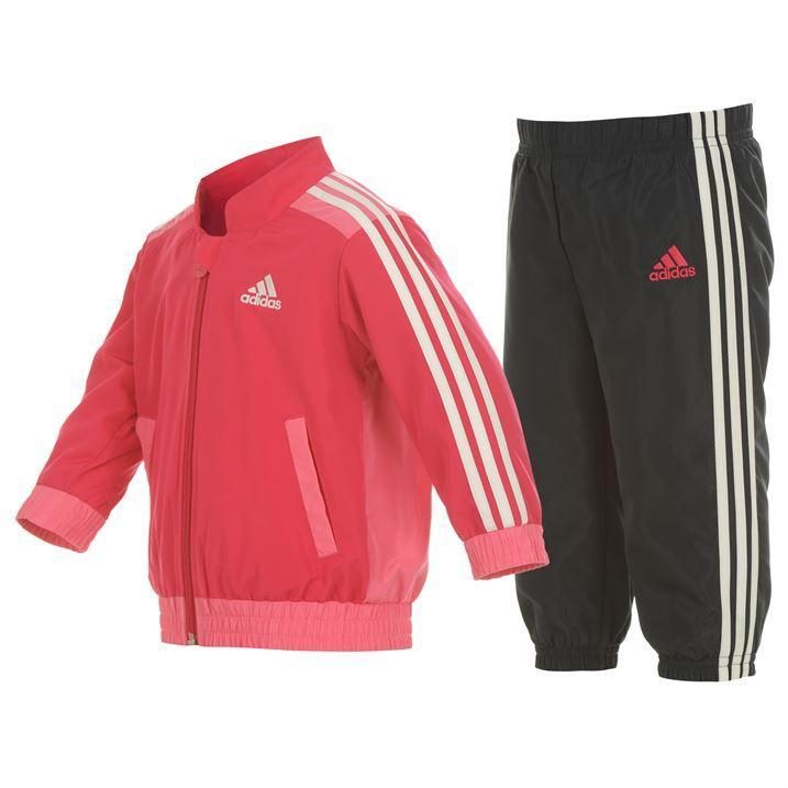 Dětská tepláková souprava Adidas - růžovo/černá