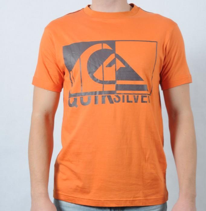 Pánské triko Quiksilver oranžová, Velikost: S