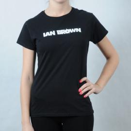 Dámské triko Gildan - Ian Brown černá