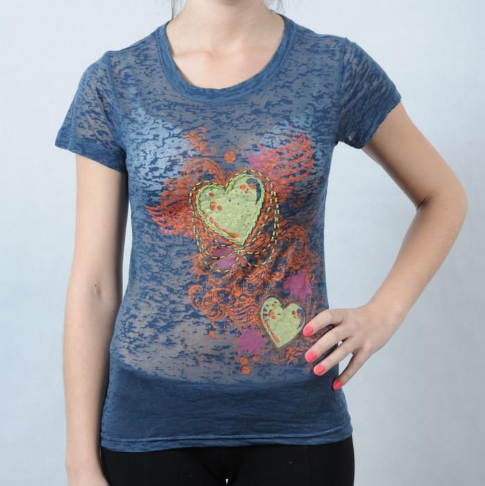 Dámské tričko Pink by Victoria Secret modrá