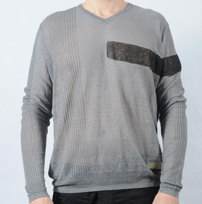 Pánský svetr Calvin Klein šedá, Velikost: M