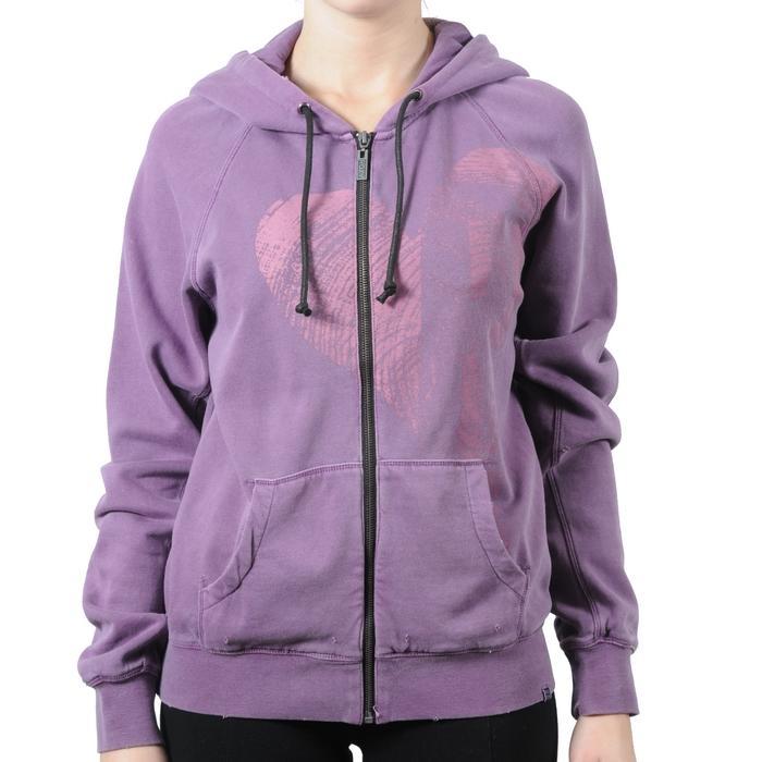 Dámská mikina s kapucí Roxy fialová