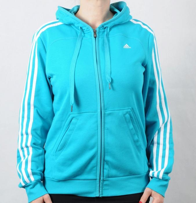 Dámská mikina Adidas světle modrá