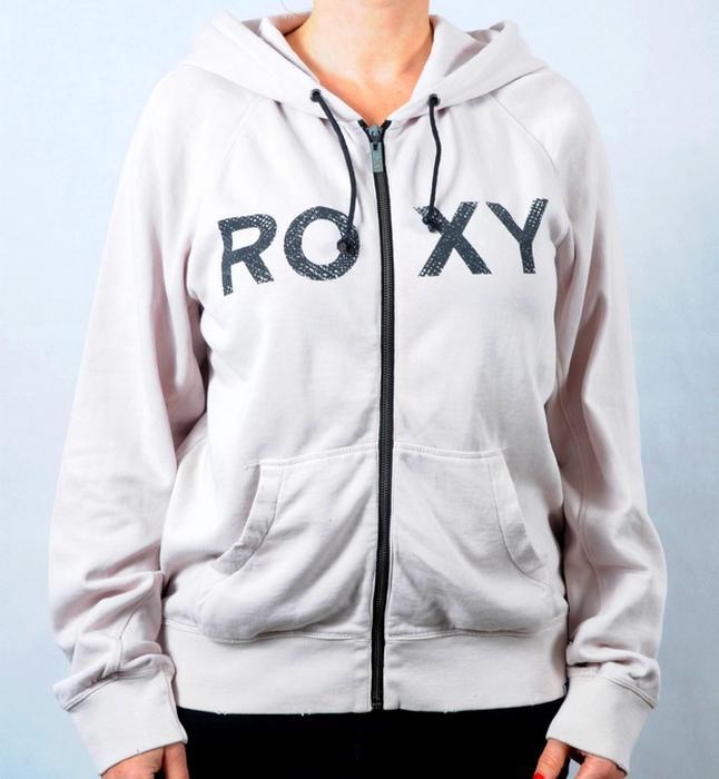 Dámská mikina s kapucí Roxy béžová