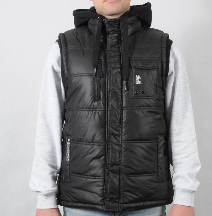 Pánská vesta Crosshatch černá, Velikost: M