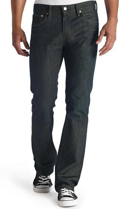 Pánské riflové kalhoty Slim Bootcut Levis černá