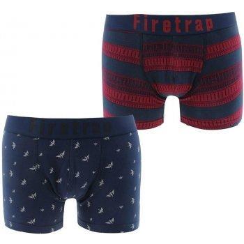 Pánské boxerky Firetrap 2 kusy modrá/červená