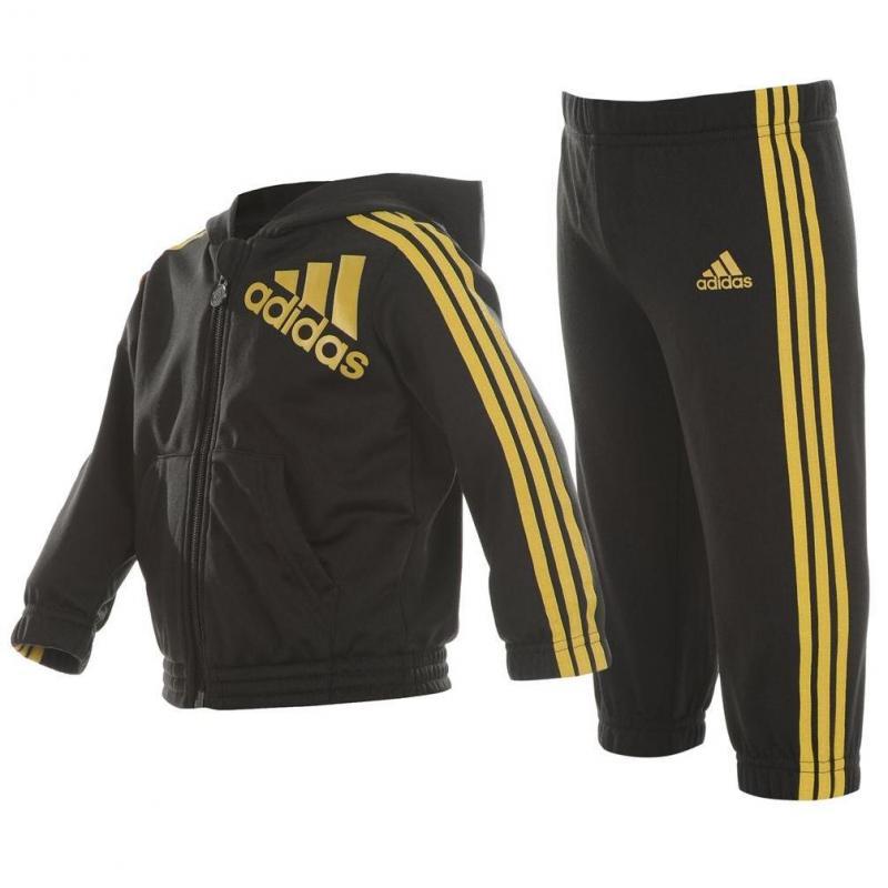 Dětská tepláková souprava Adidas - Black/Gold