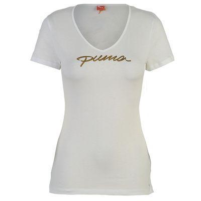 Dámské triko Puma - bílá, Velikost: 12 (M)