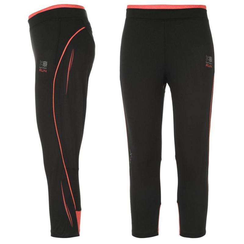 Dámské kalhoty Karrimor Xlite Capri Running - černo/růžové