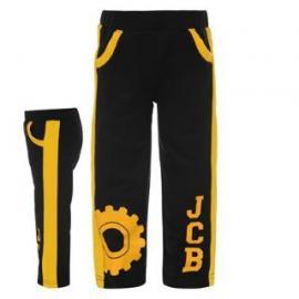 Dětské černé tepláky JCB