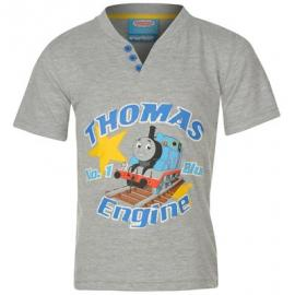 Dětské triko Lokomotiva Tomáš - šedá