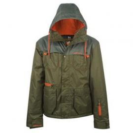 Pánská bunda Airwalk Tmavě zelená/šedá/oranžová