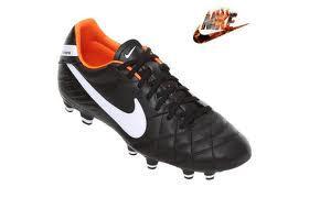 Pánské fotbalové kopačky Nike Tiem Mystic4 FG - černo/bílo/oranžové, Velikost: UK6 (euro 39)