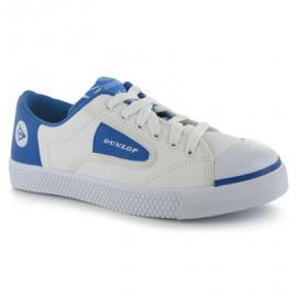 Dětské sportovní boty Dunlop Flash - bílo/modré šněrovací