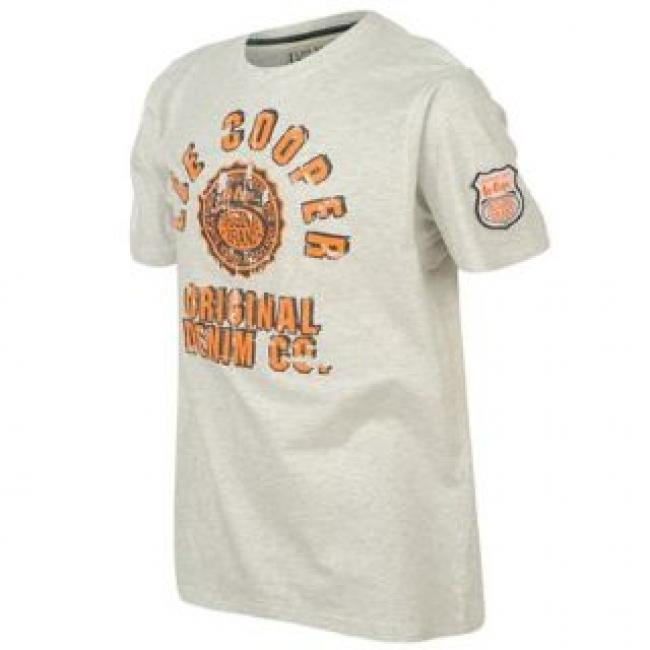 Pánské tričko Lee Cooper s potiskem - šedé