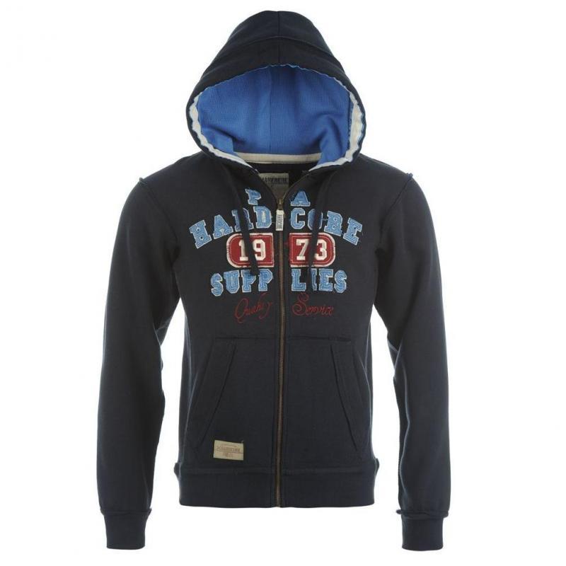 Pánská mikina s kapucí Hardcore 538451 - tmavě modrá