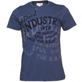Pánské triko Diesel Tmavě modrá