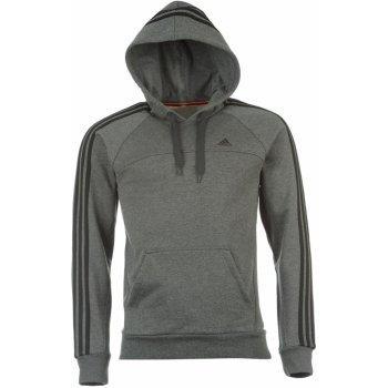 Pánská mikina s kapucí Adidas - tmavě šedá