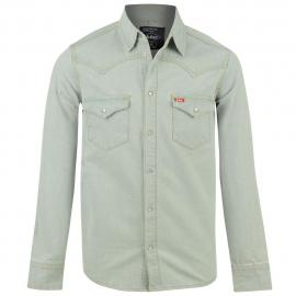 Pánská košile Lee Cooper Classic denim shirt - Stonewash