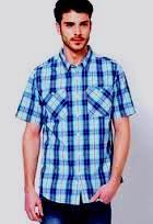 Pánská košile Caterpillar - Modrá/Tyrkysová