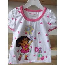 Dětské tričko Dora - Bílé/Růžové