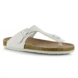 Dámská obuv Miss Fiori Toe Post Ladies Sandal bílá