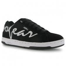 Pánské sportovní boty No Fear - černé šněrovací skate obuv