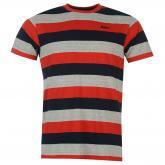 Pánské triko Lee Cooper Navy-red-grey