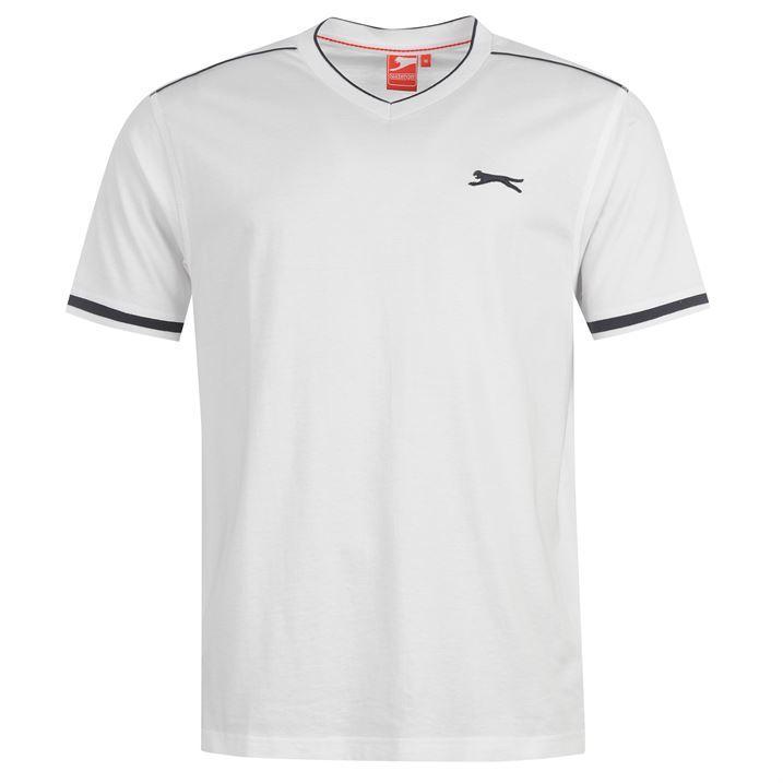 Pánské triko Slazenger - Bílé White