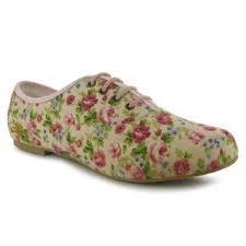 Dámská sportovní obuv Golddigga -růžová květinovaná, Velikost: UK6 (euro 39)