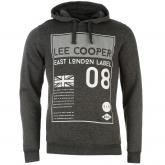 Mikina Lee Cooper Over The Head East London Hoody Mens Charcoal...
