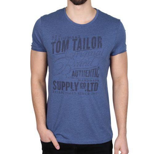 Pánské triko Tom Tailor modrá, Velikost: XXL
