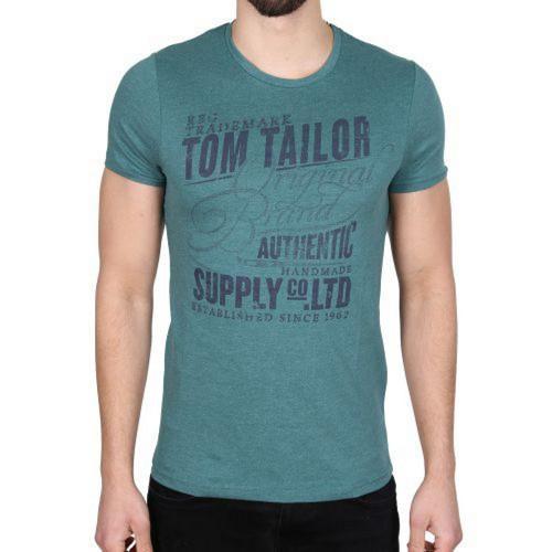 Pánské triko Tom Tailor Green, Velikost: XXL