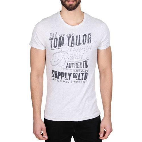 Pánské triko Tom Tailor White , Velikost: XXL