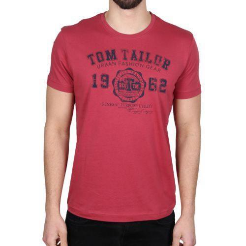 Pánské triko Tom Tailor Red, Velikost: XL